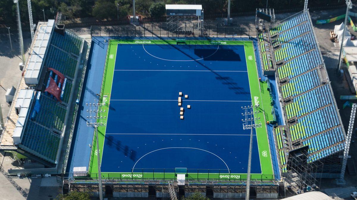 The Rio 2016 Olympic Hockey Center seats 10,000 fans