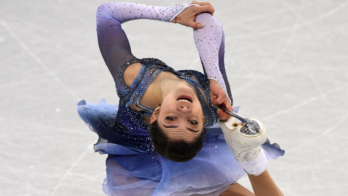 Russia's Evgenia Medvedeva competes in the figure skating team event women's single skating short program during the Pyeongchang 2018 Winter Olympic Games at the Gangneung Ice Arena