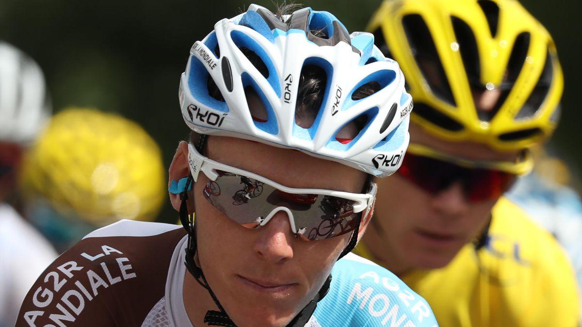 Romain Bardet et Chris Froome lors de la 20e étape du Tour 2016