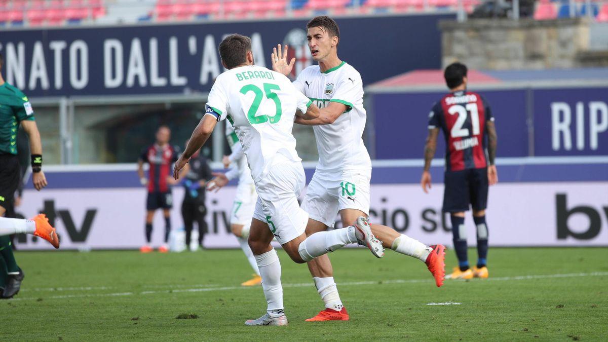 Berardi e Djuricic - Bologna-Sassuolo - Serie A 2020-2021