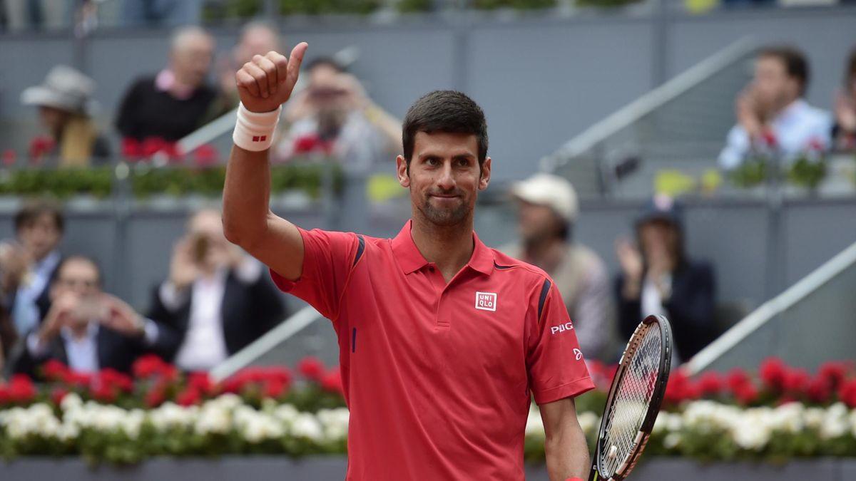 Novak Djokovic, tout en maîtrise à Madrid