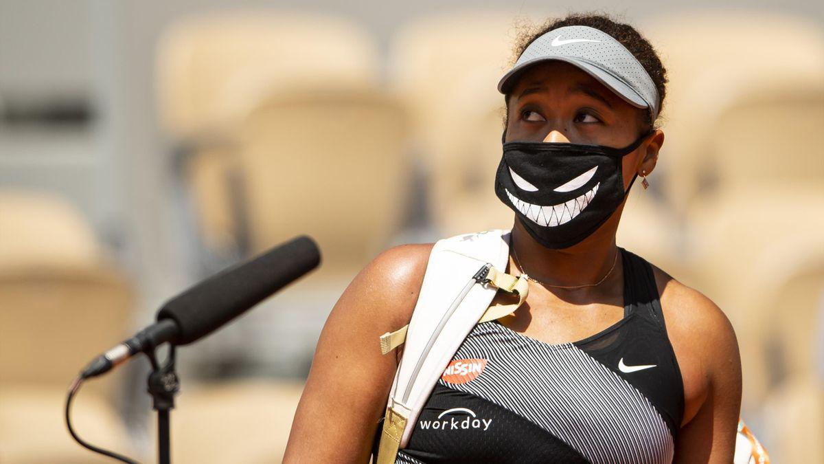 Naomi Osaka bei den French Open in Paris