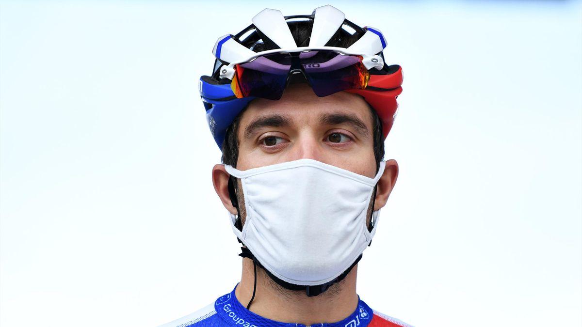 Thibaut Pinot, au départ de la 2e étape du Tour d'Espagne 2020