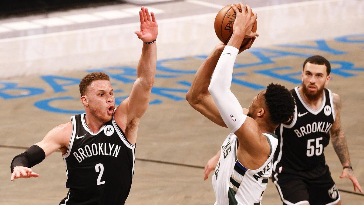 Défense de Griffin (Nets) sur Giannis (Bucks)