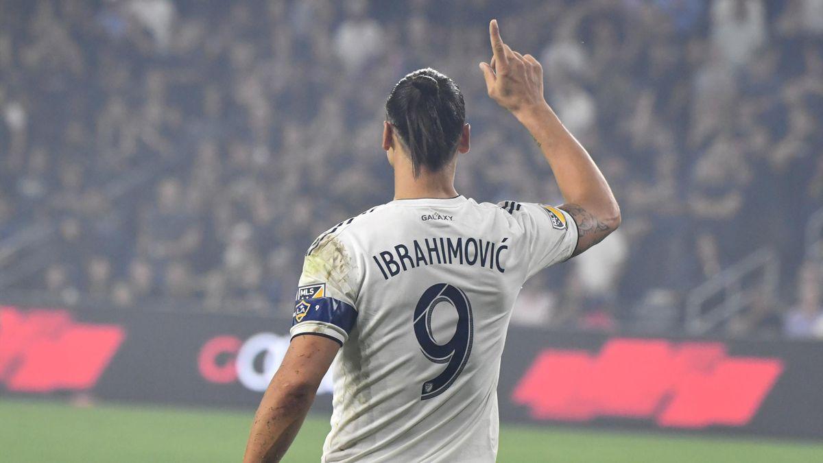 Zlatan Ibrahimovic #9 of Los Angeles Galaxy
