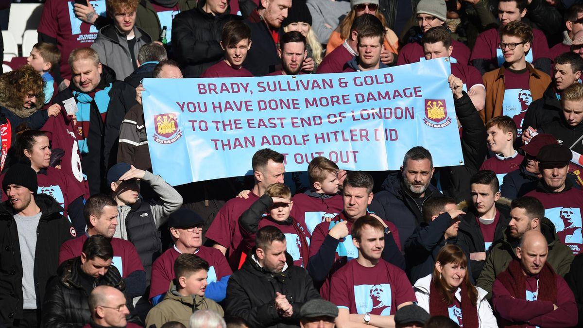 Les supporters de West Ham