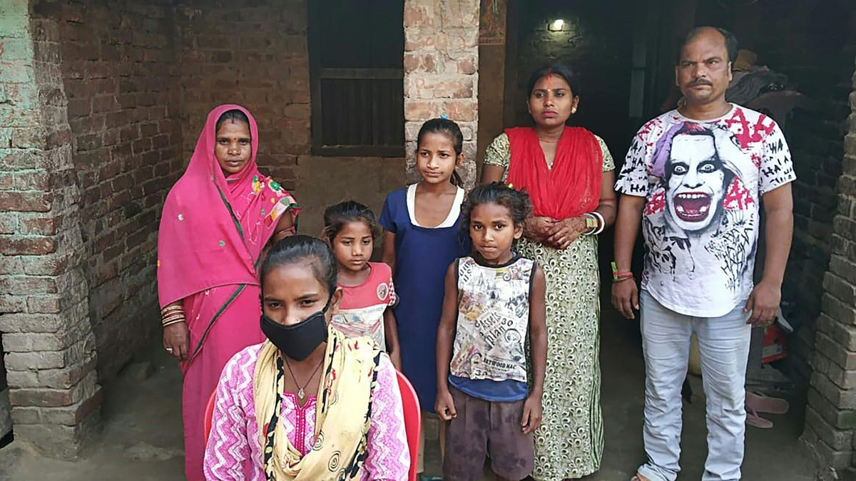 Jyoti Kumari et sa famille.