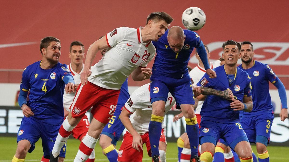 Andorra a lengyel válogatott ellen - AFP/Janek Skarzynksi