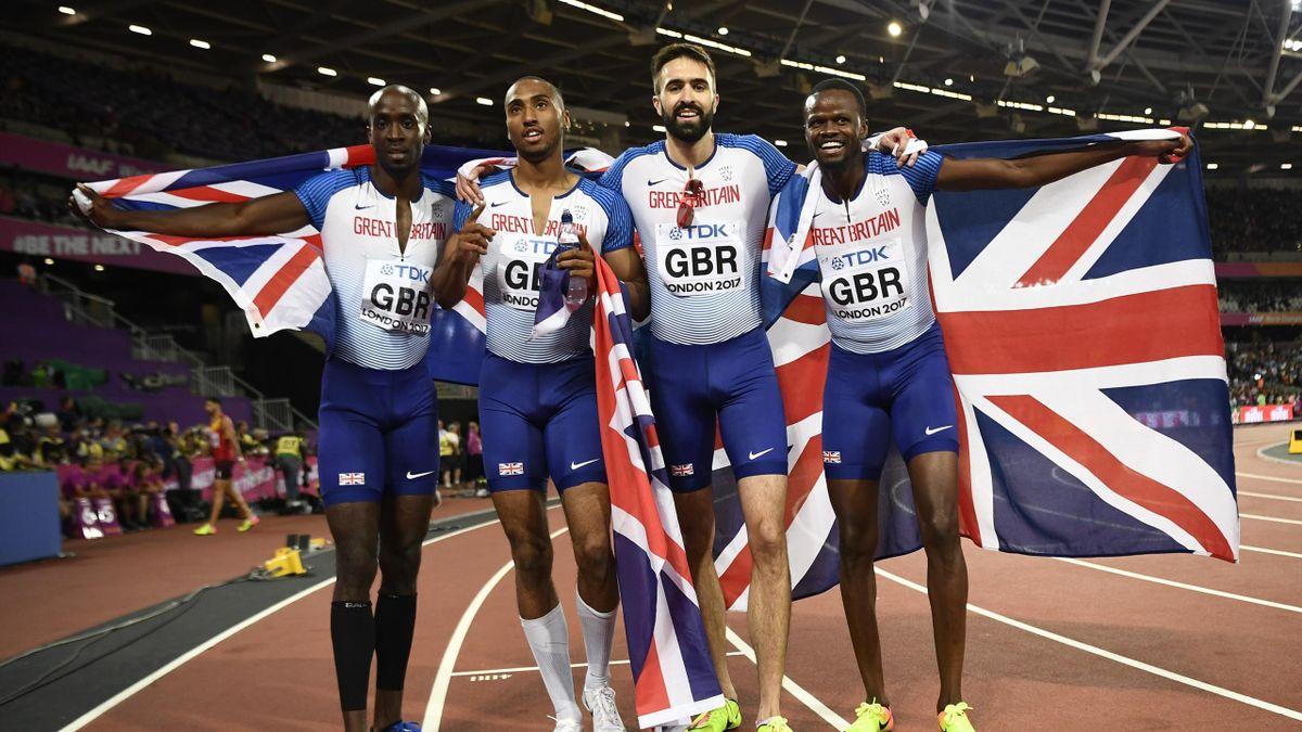 The Team GB men's 4x400m squad in 2017