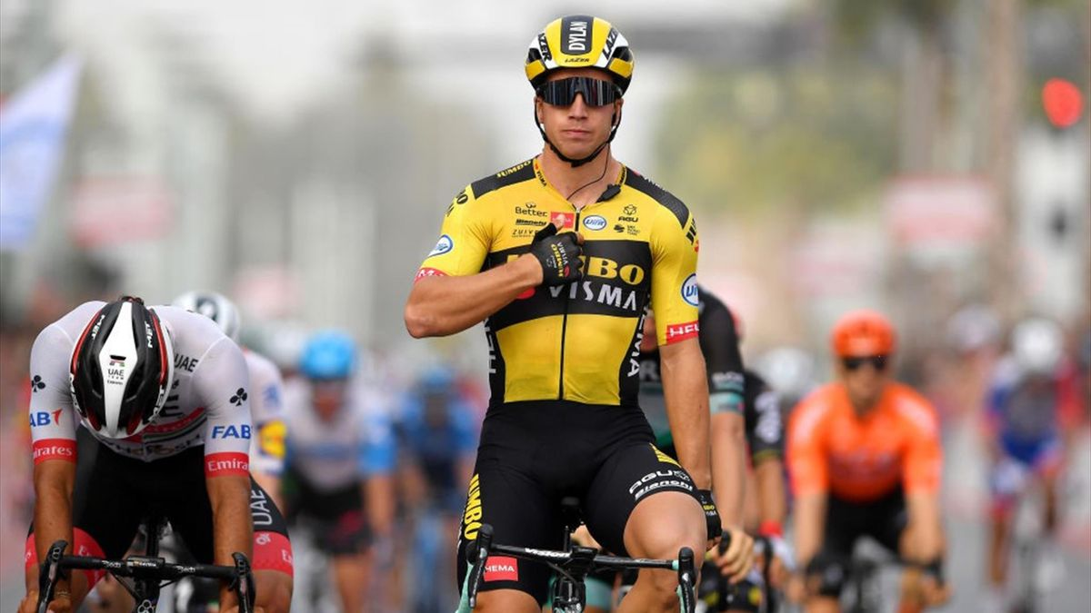 Dylan Groenewegen vince la 4a tappa dell'UAE Tour 2020 - Getty Images