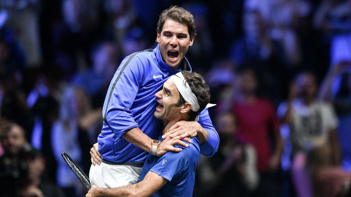 Роджер Федерер и Рафаэль Надаль на Кубке Лэйвера-2017