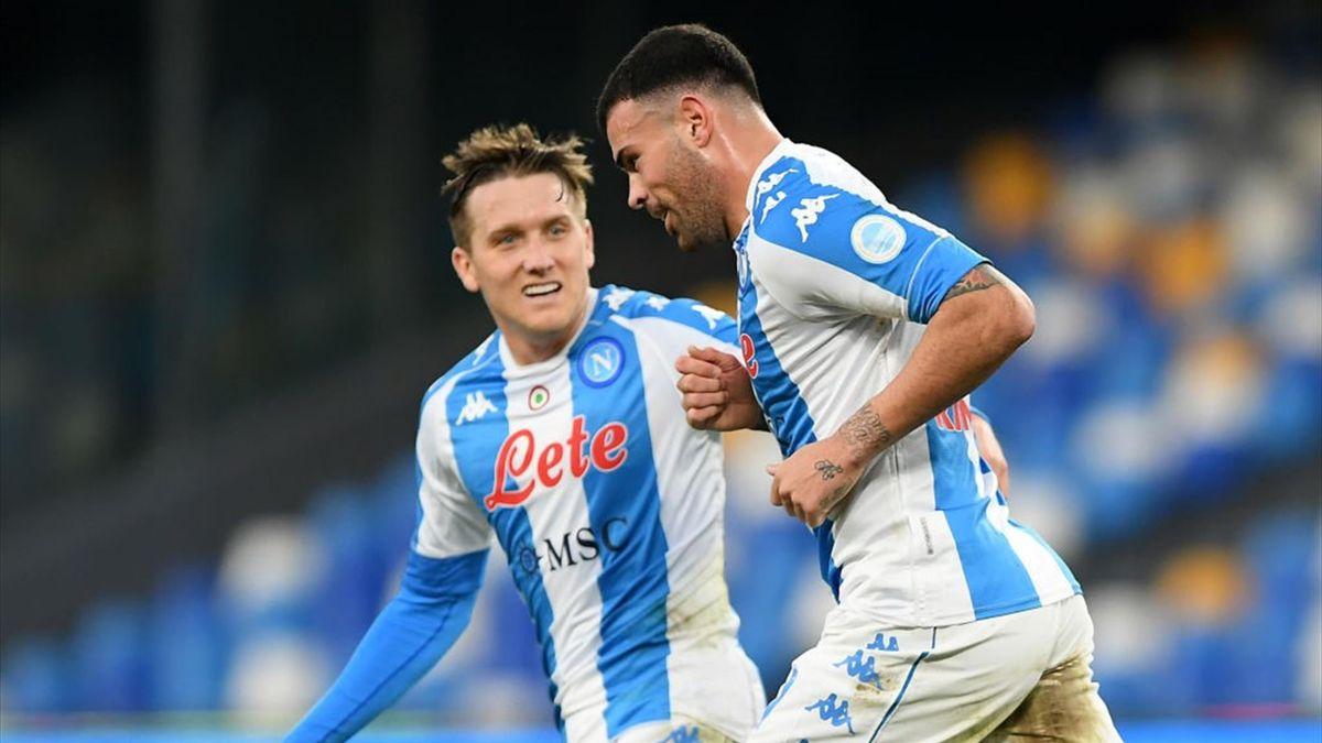Petagna, Zielinski - Napoli-Sampdoria - Serie A 2020/2021 - Getty Images