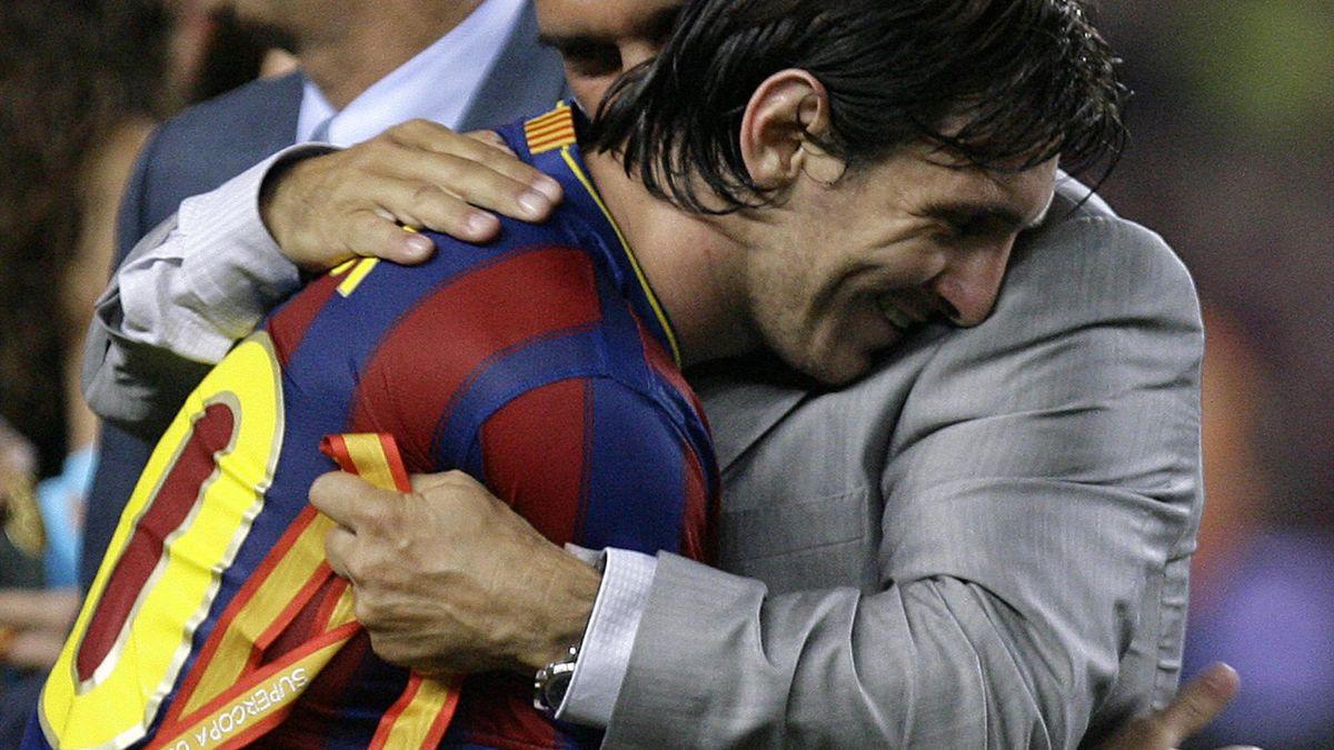 Lionel Messi şi Joan Laporta