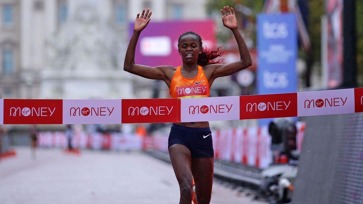 Brigid Kosgei will be looking to win her third London Marathon title