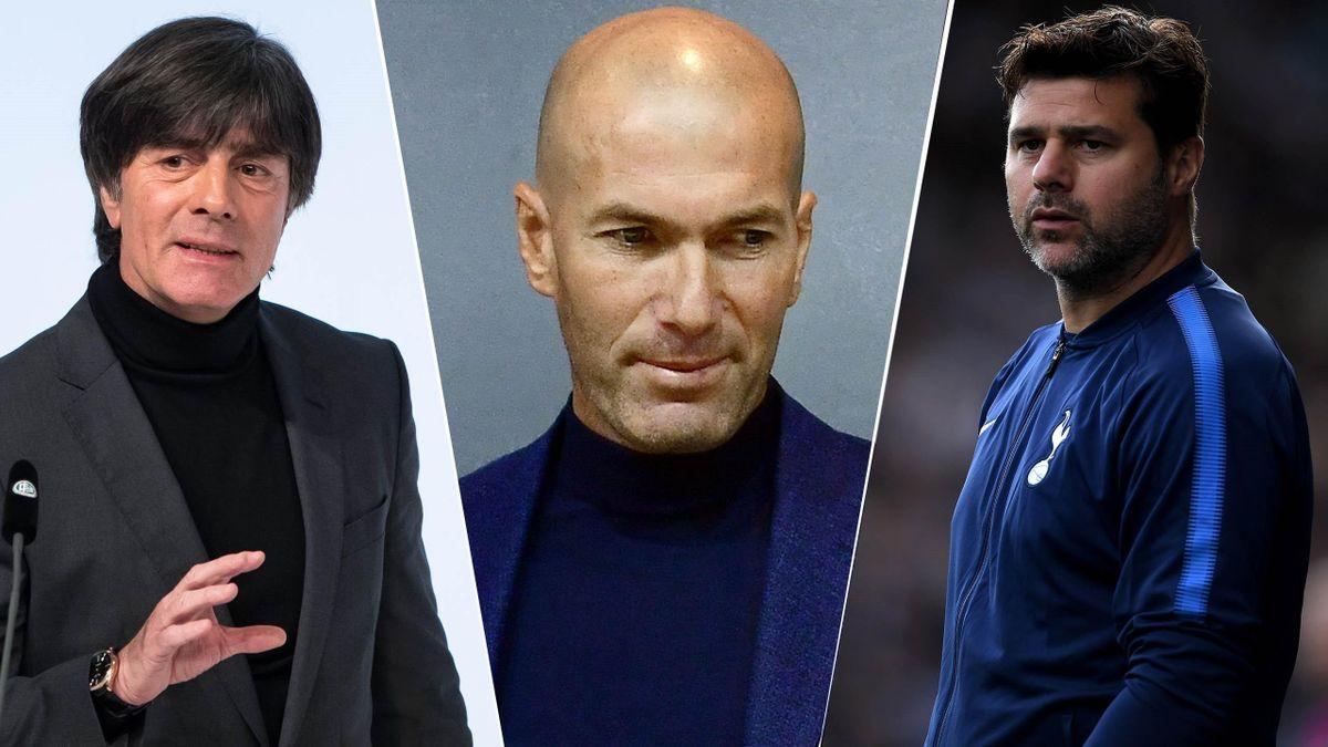 Joachim Low, Zinedine Zidane and Mauricio Pochettino