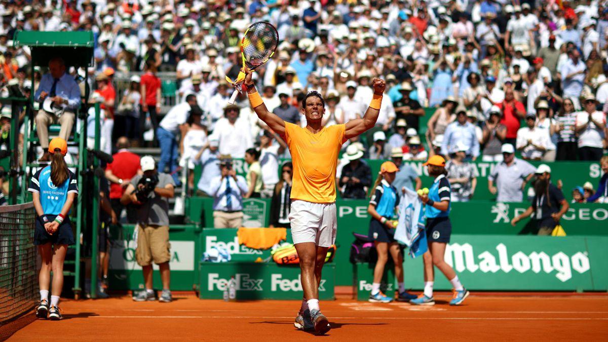 Rafa Nadal celebra su pase a la final en el Masters 1.000 de Montecarlo
