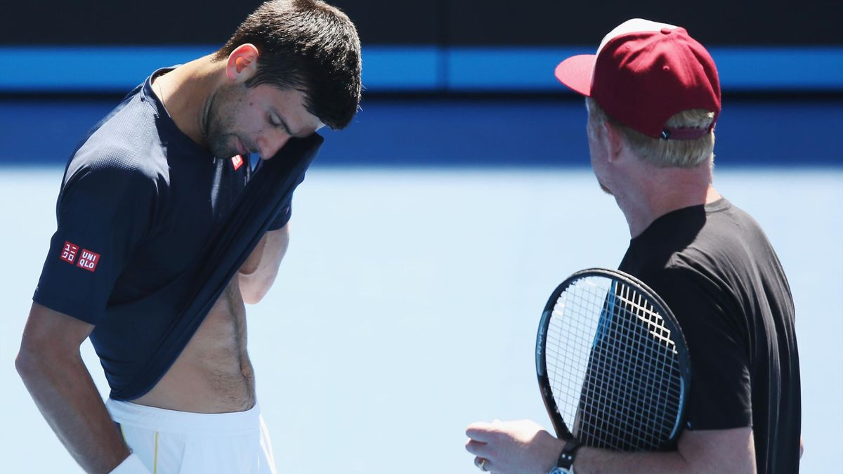 Novak Djokovic și Boris Becker