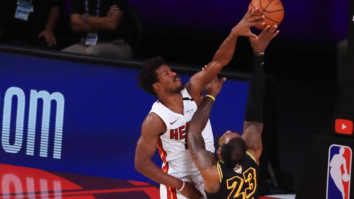 Jimmy Butler e LeBron James, Heat-Lakers gara 5, NBA Finals 2020