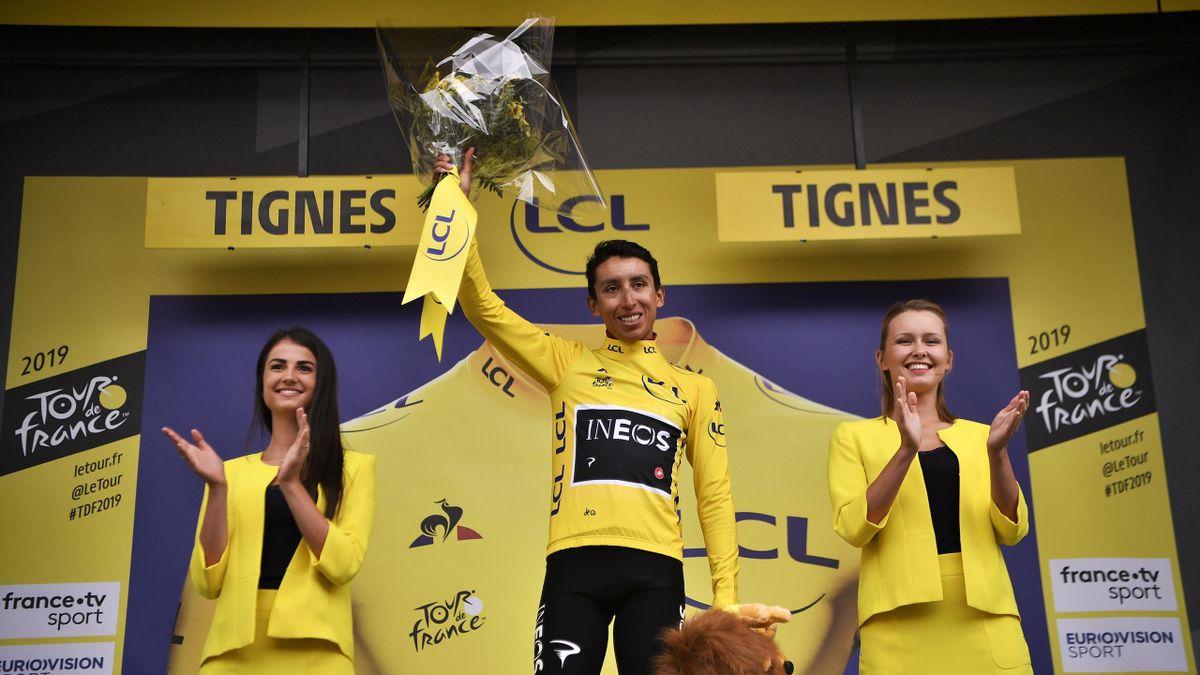 Tour de France 2019 - Egan Bernal im Gelben Trikot des Klassementführenden