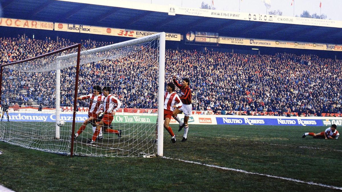 Il gol annullato a Marco Van Basten, Stella Rossa-Milan Coppa Campioni 1989, Imago