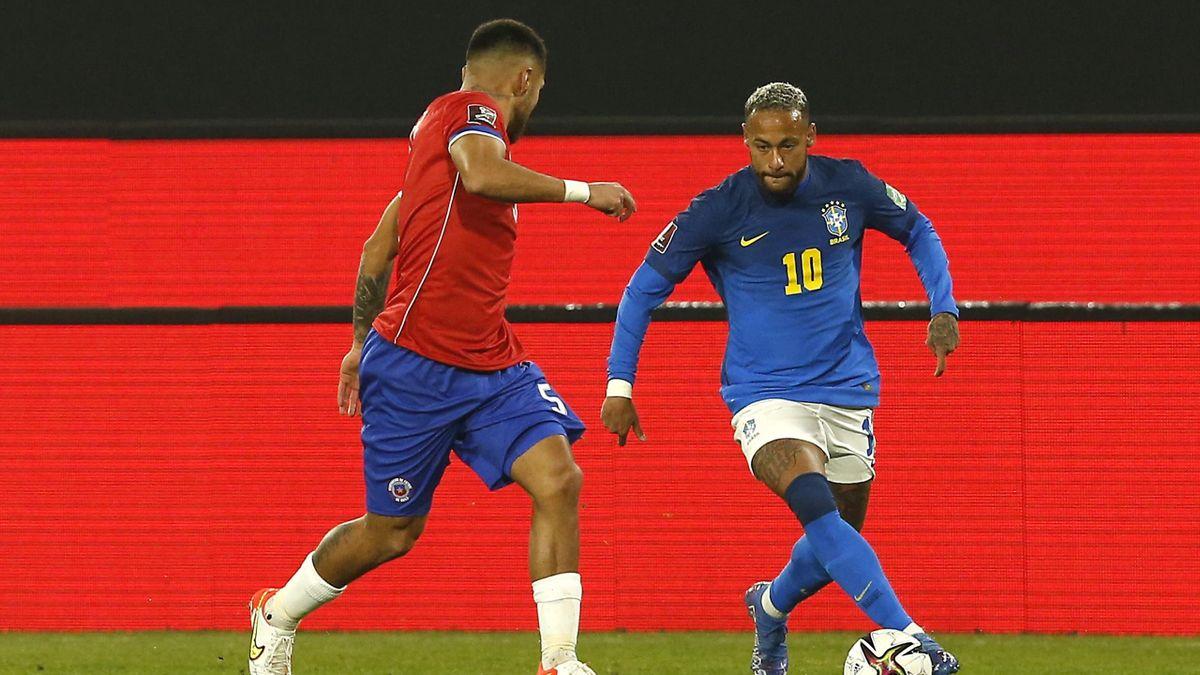 Неймар в матче Чили – Бразилия