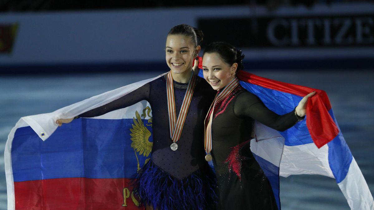 Аделина Сотникова и Елизавета Туктамышева на Евро-2013