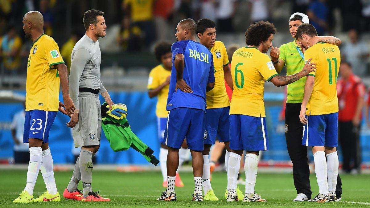 Le désarroi des Brésiliens après leur déroute 7-1 en demie du Mondial 2014 contre l'Allemagne