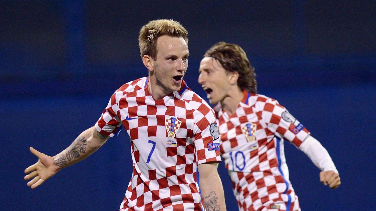 Modric y Rakitic con Croacia
