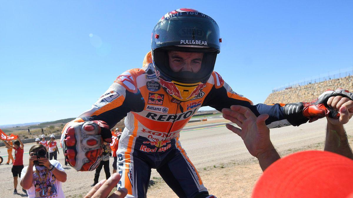 Marc Marquez in GP Aragon