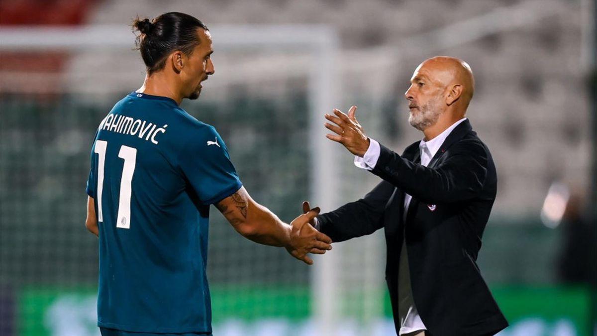 Zlatan Ibrahimovic e Stefano Pioli