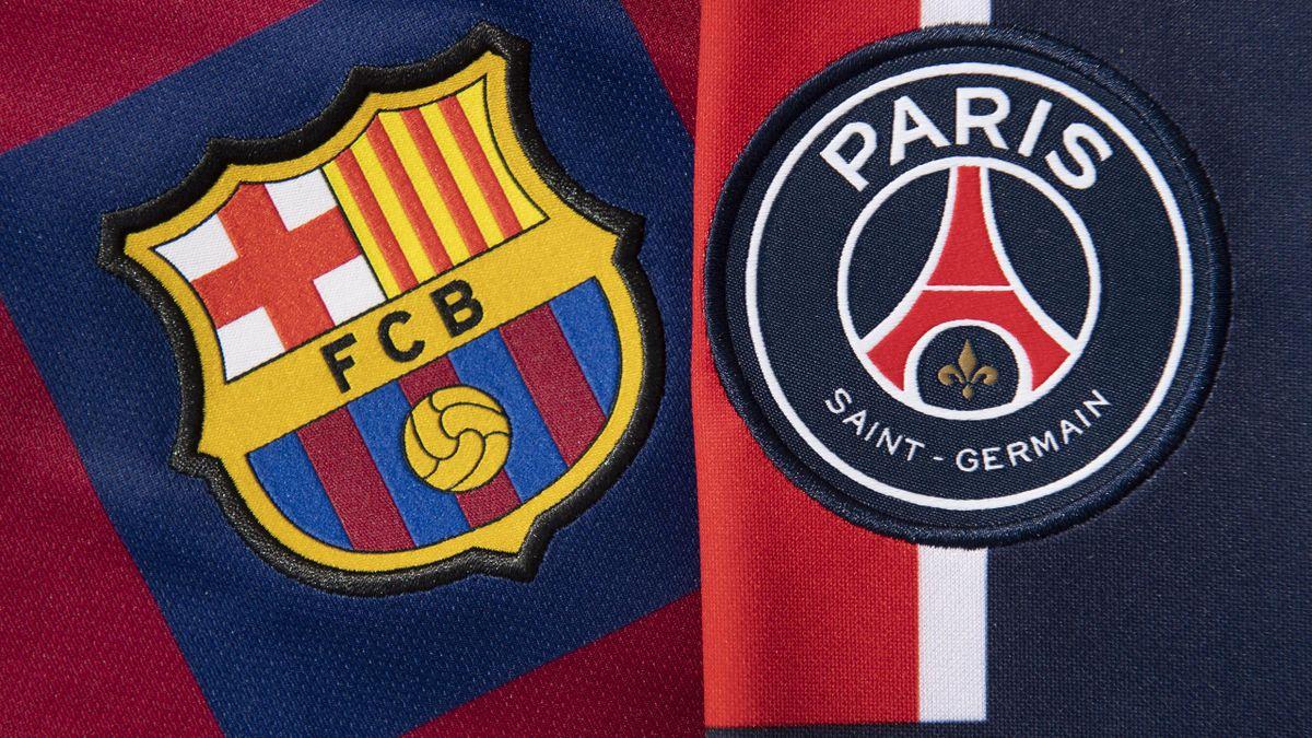 Escudos FC Barcelona y PSG