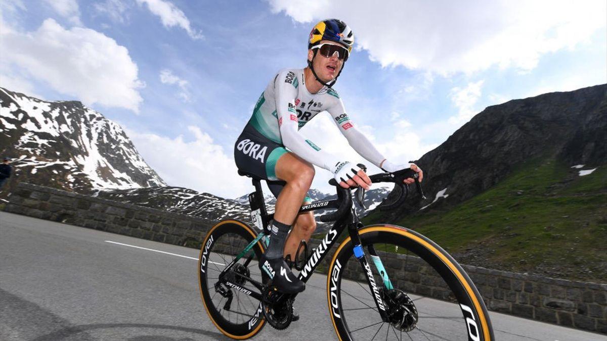 Anton Palzer (Bora-hansgrohe) bestritt bei der Tour de Suisse sein erstes WorldTour-Rennen