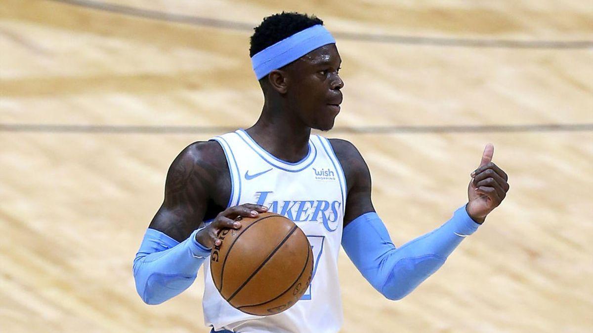 Dennis Schröder spielt aktuell für die Los Angeles Lakers