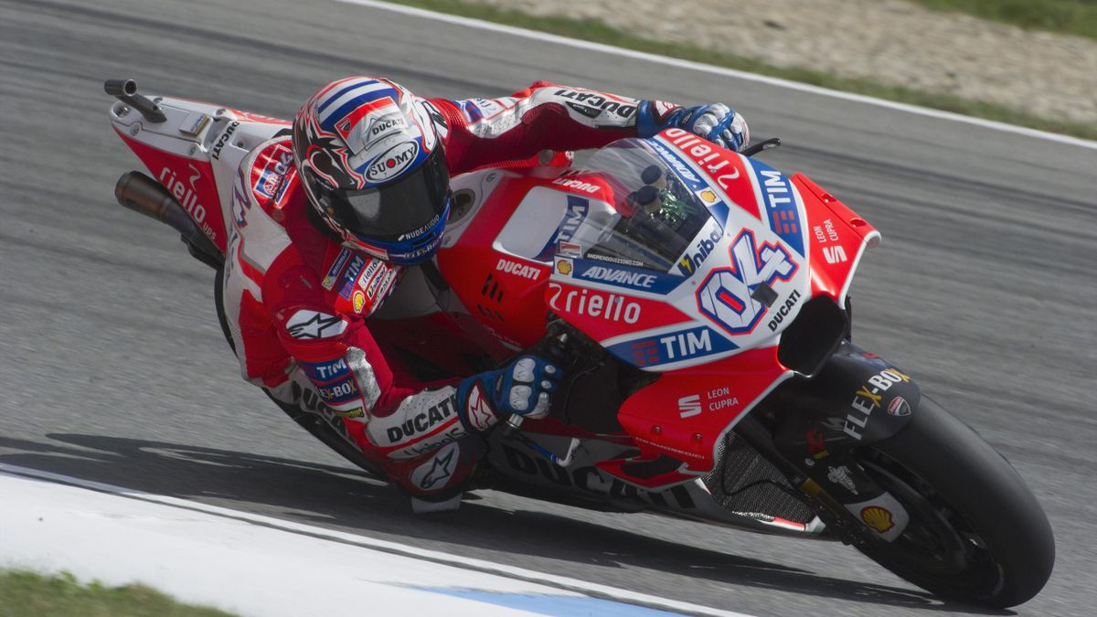 Andrea Dovizioso of Italy and Ducati Team rounds the bend during the MotoGp Tests In Brno at Brno Circuit on August