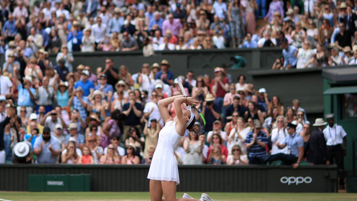 Halep van begin tot eind in de 'zone' in de Wimbledonfinale van 2019
