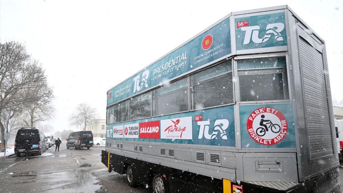 Die Auftaktetappe der Türkei-Rundfahrt wurde aufgrund starker Schneefälle abgesagt