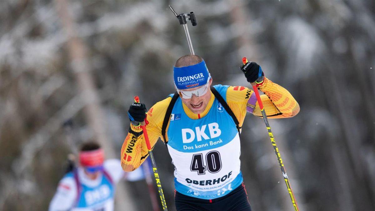 Erik Lesser beim Weltcup in Oberhof