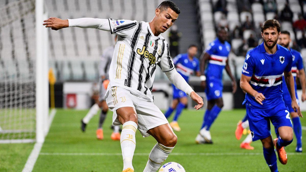 Cristiano Ronaldo (Juventus Turin) against Sampdoria - Serie A
