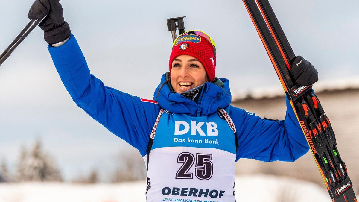 La gioia di Lisa Vittozzi per il successo ad Oberhof, Coppa del Mondo Biathlon, Getty Images