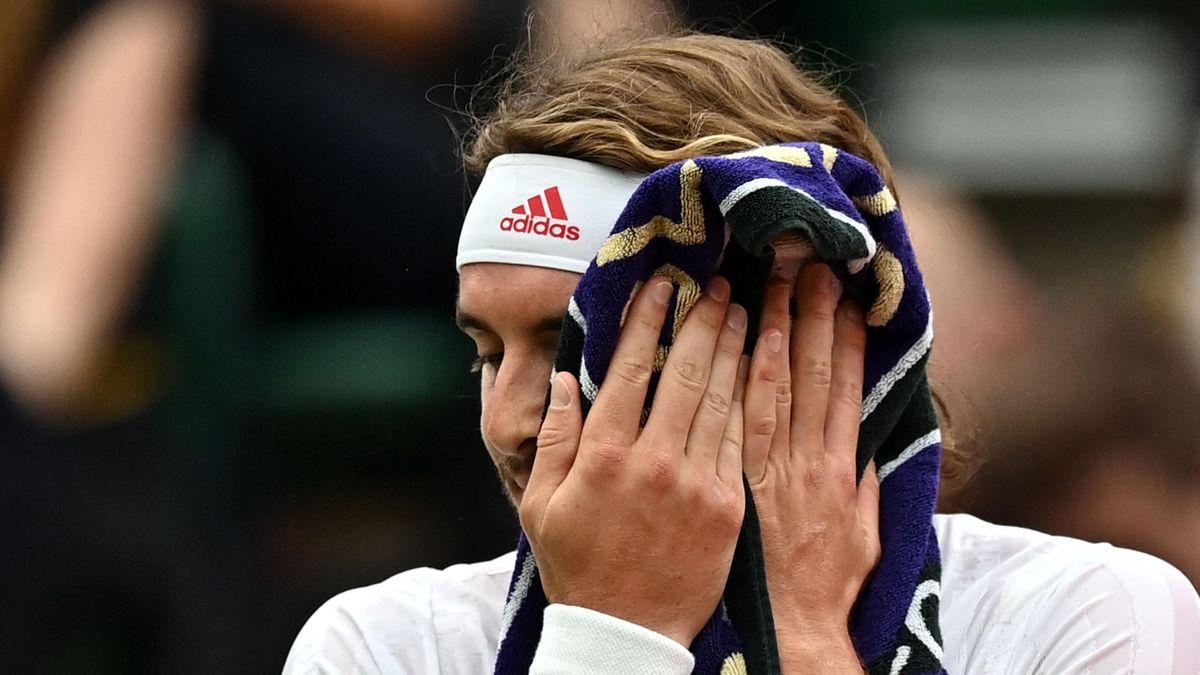 Stefanos Tsitsipas à Wimbledon en 2021