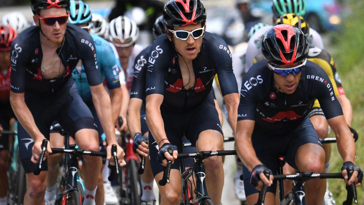 Team Ineos - Tao Geoghegan Hart, Geraint Thomas, Richie Porte