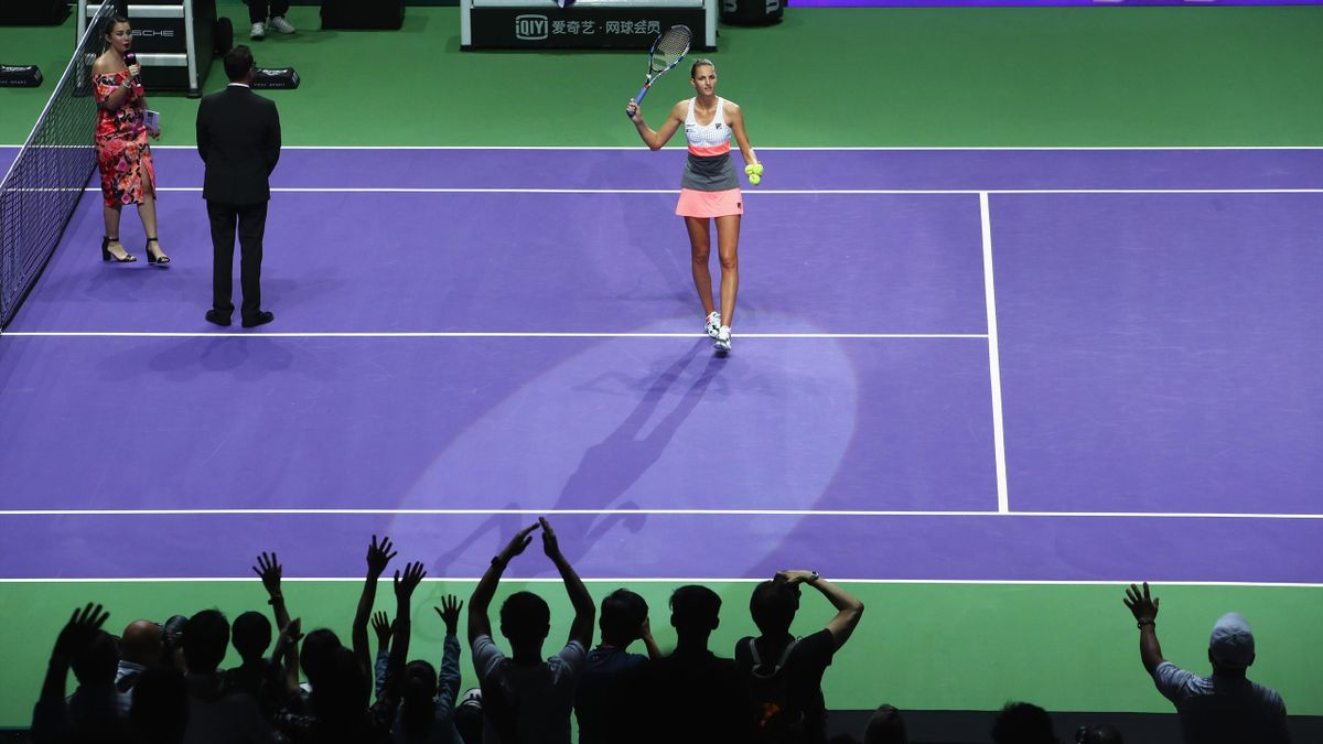 Karolina Pliskova made an impressive start to the WTA finals.