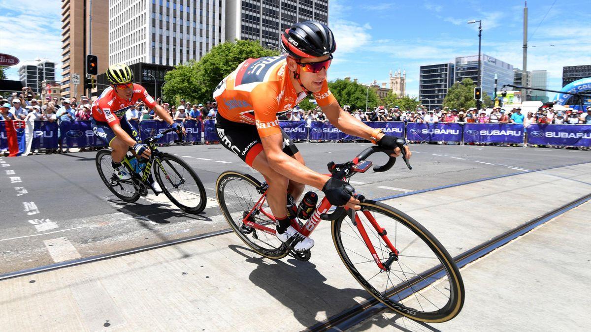 Australian rider and race leader Richie Porte of team BMC Racing