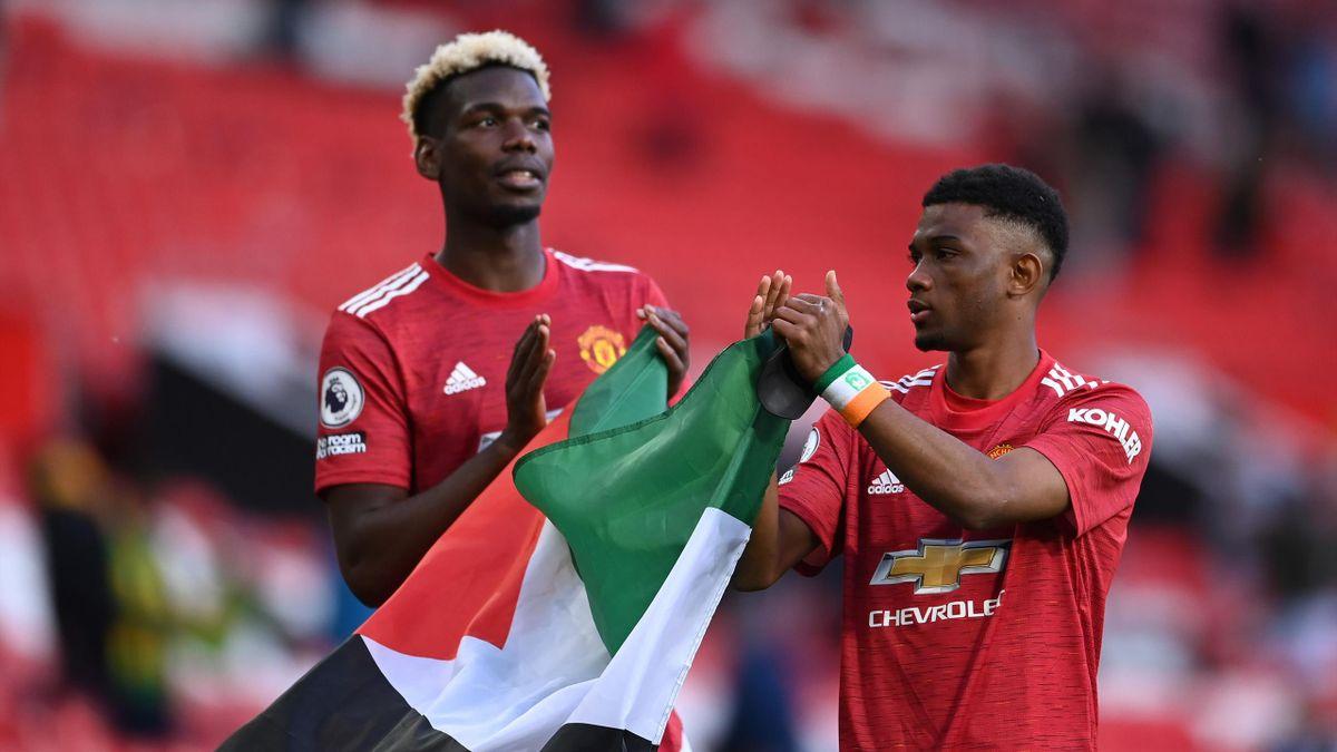 Paul Pogba (L) and Amad Diallo (R)