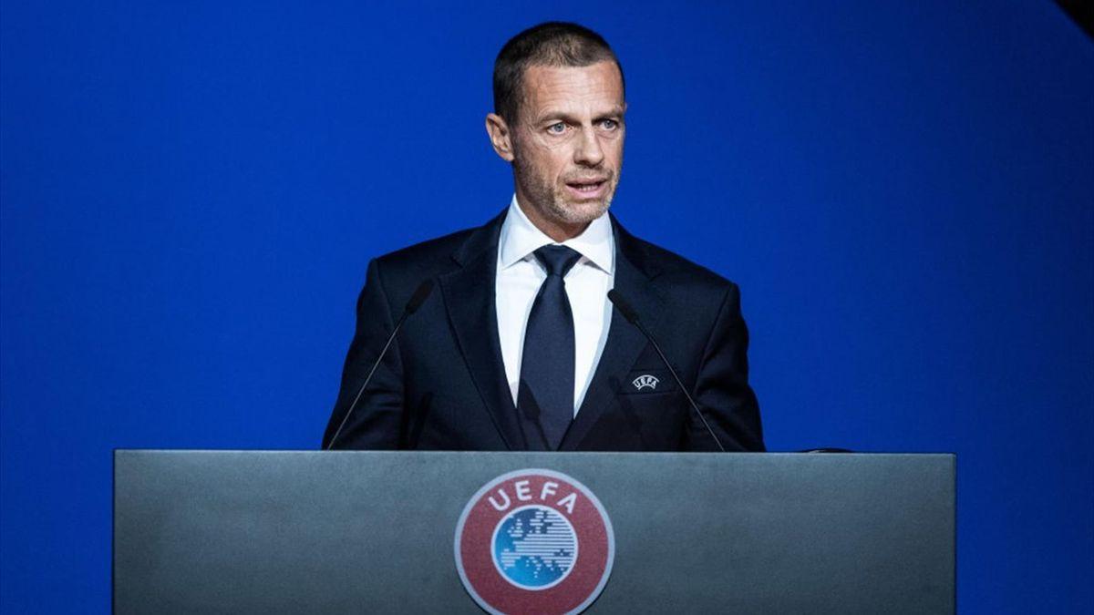 Il presidente dell'UEFA Aleksander Ceferin