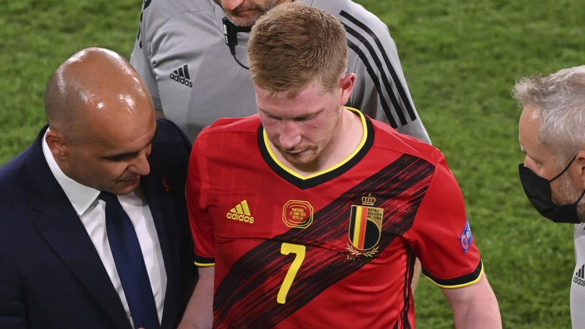 Kevin De Bruyne was injured at Euro 2020