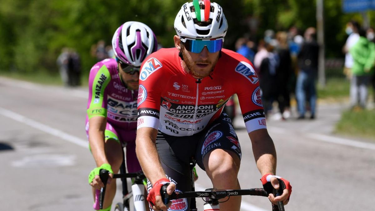 Filippo Tagliani e Umberto Marengo in fuga nella tappa di Cattolica - Giro d'Italia 2021