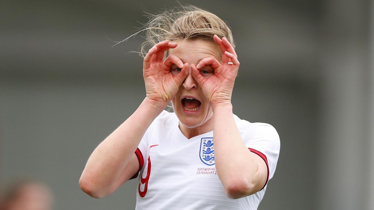 Ellen White scored a hat-trick in England's 6-0 win over Northern Ireland