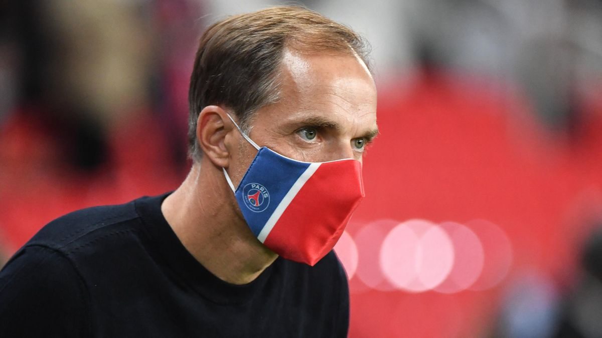 Thomas Tuchel lors du match opposant le Paris Saint-Germain à l'Olympique de Marseille, le 13 septembre 2020