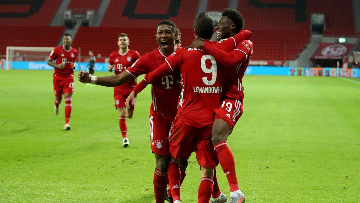 Gewohntes Bild 2020: Der FC Bayern München jubelt über die Tabellenführung